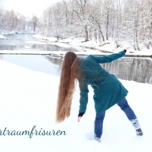My hair in the snow