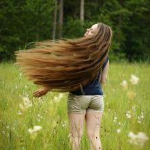 Throw my hair