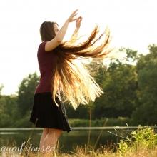 Throwing my hair