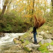 Hair Throwing in autumn