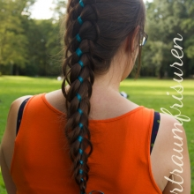Four Strand Braid with Ribbon and Loops