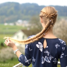 Fishtail Braid with Rope Braid Accents