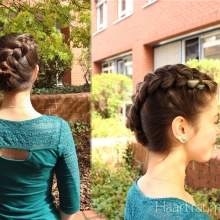 Diagonal Dutch Braid Bunned