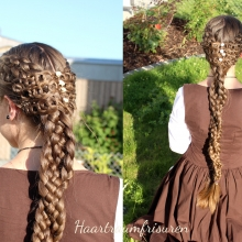 Five Strand Braids with Crochet Accents