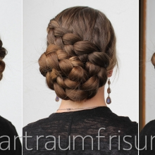 Diagonal Dutch Braid Pinned
