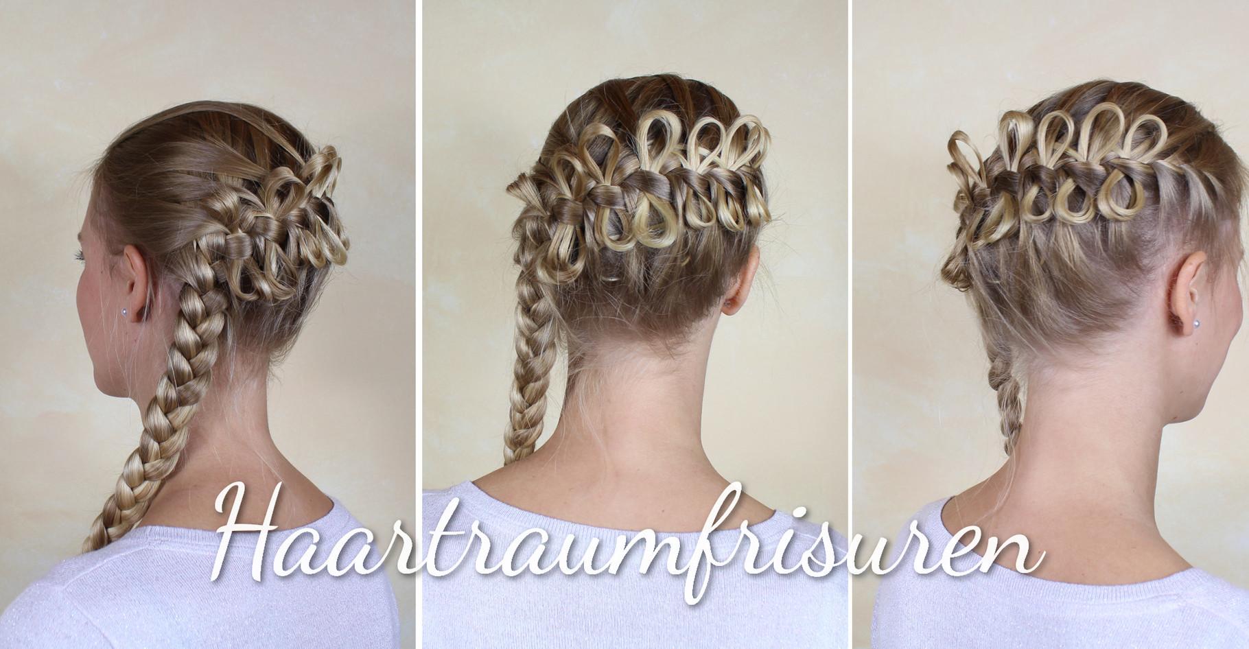 Braune haare und blonde braids
