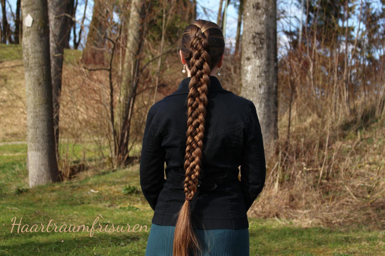 jungs lange haare zum zopf