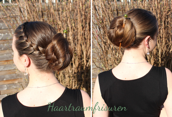 Nessa Bun with Accent Braid