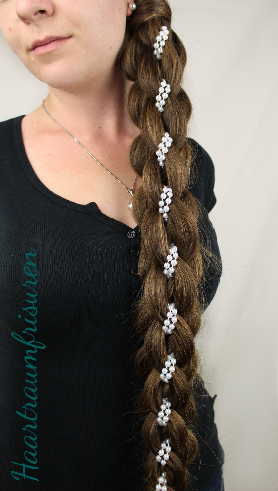 Intricate Five Strand Braid mit Perlen
