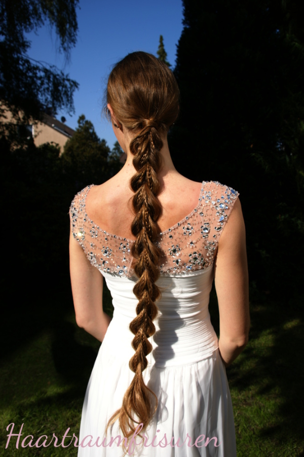 Beautiful Braid with Beautiful Dress