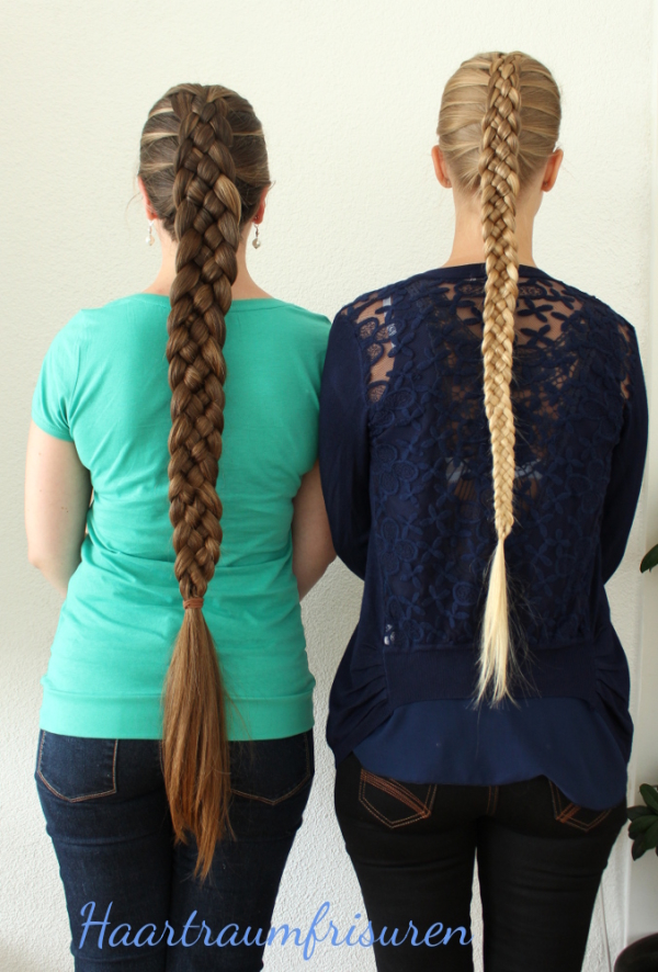 Two five Strand braids
