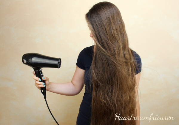 Do not blowdry your hair
