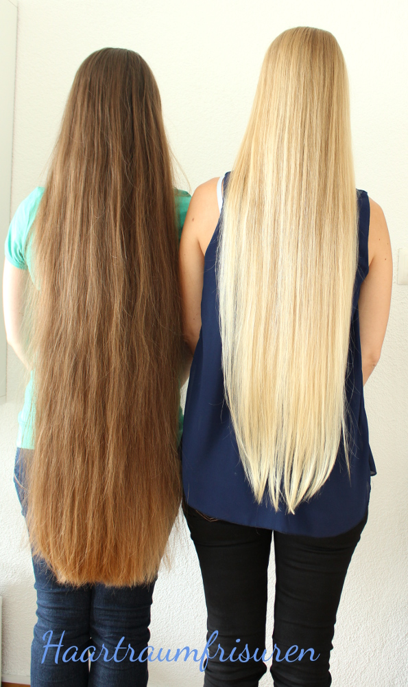 Friends with long hair