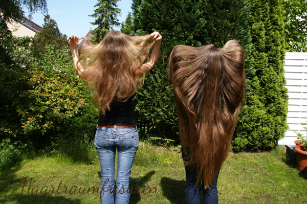 Throwing our hair