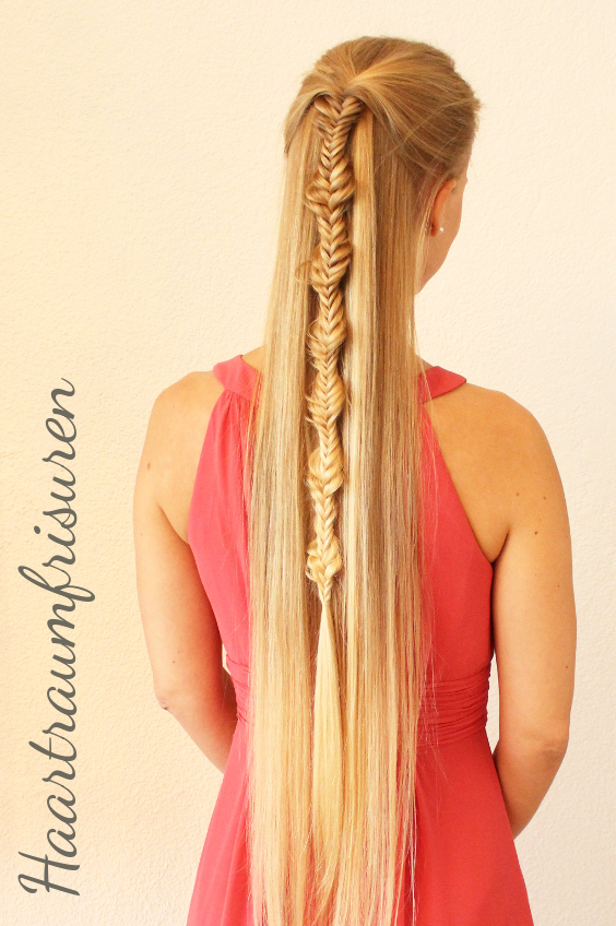 Fishtailbraid Half Up
