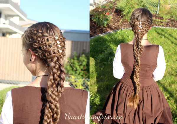 Two Five Strand Braids and Crochet Accents