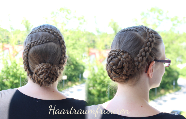 Five Strand Lace Braids and a bun