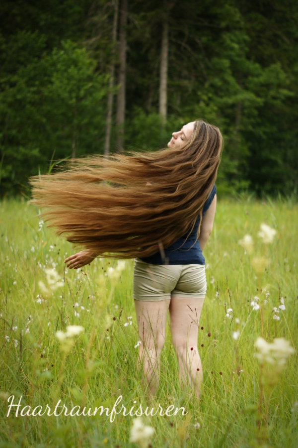 Throwing my hair
