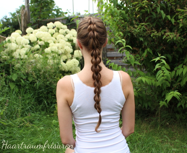 3D Pullthroughbraid on Haselnussblond