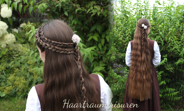 Two rows of LAce Braids with a four strand braid