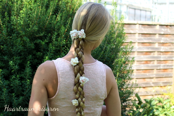 Rapunzel Braid with flowers