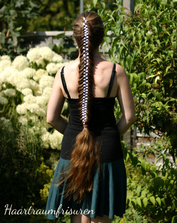 Fishtail Braid with Ribbon