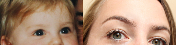 Eyebrows then and now