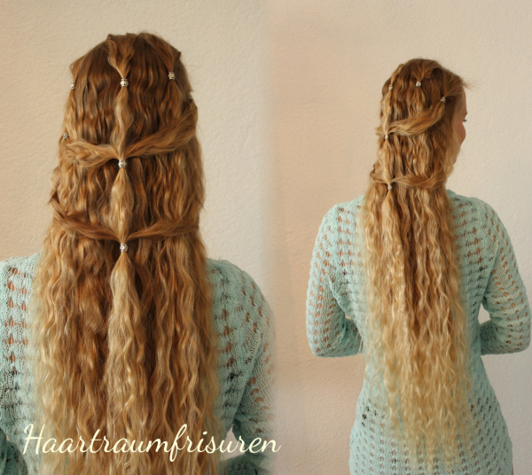 Wedding hair with beads
