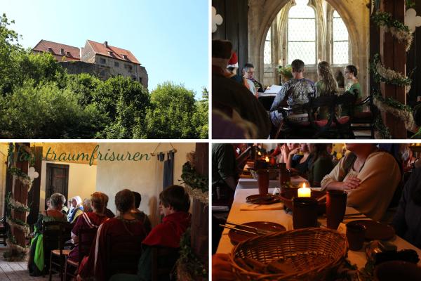 Kleiner Einblick in die Hochzeit auf der Tannenburg