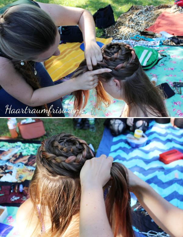 Braiding a spiral braid