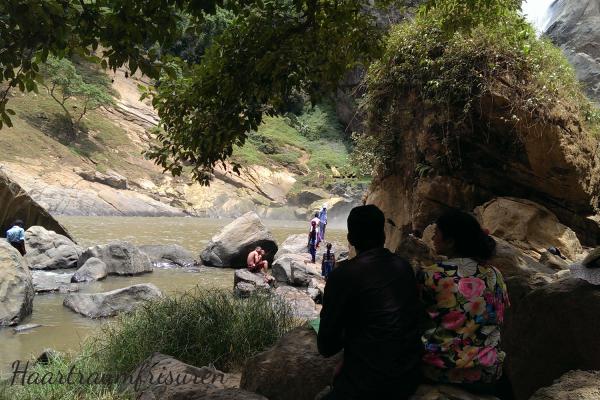 At the Duhinda Falls near Badulla
