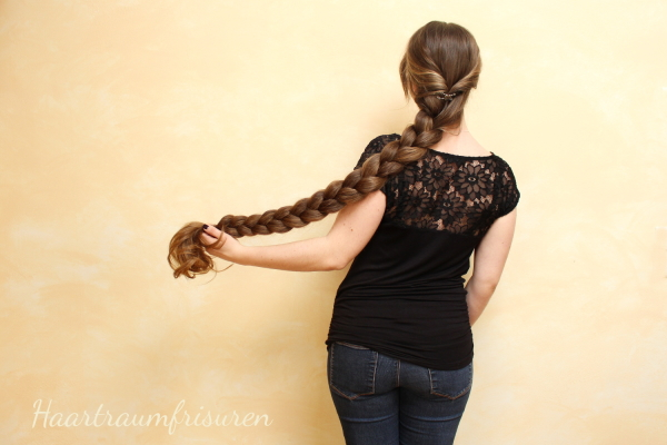 Big English Braid with curls
