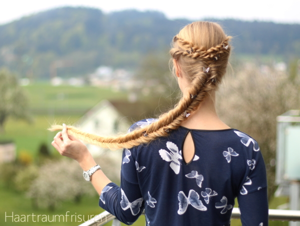 Fishtail Braid with rope accents