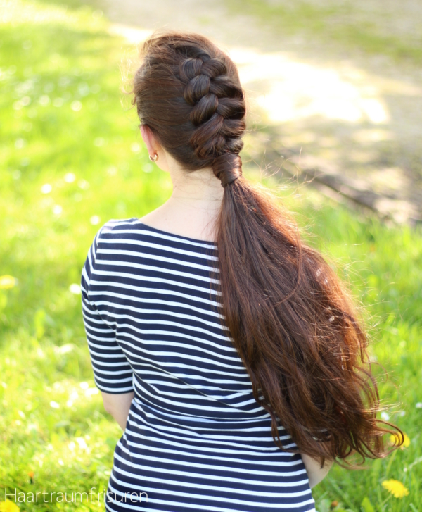 Dutch Braided Ponytail