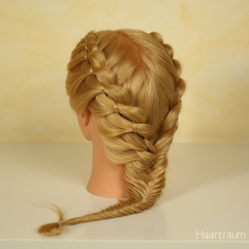 Four Strand Braids into Fishtail Braid